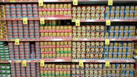 Μπορέστε τρόφιμα που πωλούνται στο κατάστημα στη Σιγκαπούρη Στοκ Εικόνες