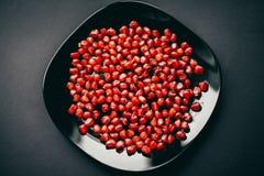 μπορέστε χοληστερόλη να κλείσετε χαμηλότερη μακρο σπόροι ροδιών που αυξάνονται superfoods στοκ εικόνα
