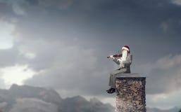 Μπορείτε εδώ αυτή η μελωδία Χριστουγέννων Μικτά μέσα Στοκ φωτογραφία με δικαίωμα ελεύθερης χρήσης