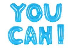 Μπορείτε, μπλε χρώμα Στοκ Εικόνες