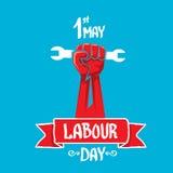 1 μπορεί - να εργαστεί την ημέρα διανυσματική αφίσα ημέρας εργασίας Στοκ Φωτογραφίες