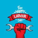 1 μπορεί - να εργαστεί την ημέρα διανυσματική αφίσα ημέρας εργασίας Στοκ φωτογραφία με δικαίωμα ελεύθερης χρήσης
