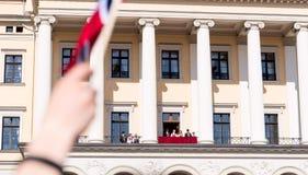 17 μπορούν βασιλική οικογένεια του Όσλο Νορβηγία ακόμα πιό κοντά Στοκ φωτογραφία με δικαίωμα ελεύθερης χρήσης