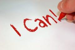 Μπορώ! Στοκ εικόνες με δικαίωμα ελεύθερης χρήσης