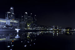 Μπουένος Άιρες Ρίο Darsena Sur τη νύχτα Στοκ φωτογραφίες με δικαίωμα ελεύθερης χρήσης