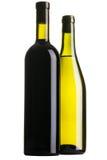 μπουκάλια δύο κρασί Στοκ Φωτογραφίες