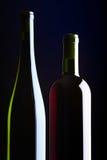 μπουκάλια δύο κρασί Στοκ Εικόνα