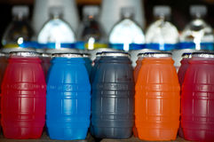 μπουκάλια ζωηρόχρωμα Στοκ Εικόνα