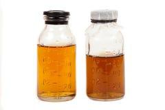 Μπουκάλια ιατρικά με μια φίλτρο στοκ φωτογραφίες