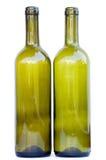 μπουκάλια κενά δύο Στοκ Εικόνες