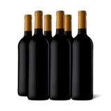 Μπουκάλια κρασιού Στοκ Εικόνα