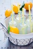 Μπουκάλια λεμονάδας καλαθιών Στοκ Εικόνες