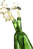 μπουκάλια μπύρας που εκρ Στοκ Φωτογραφίες