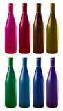 μπουκάλια οκτώ κρασί Στοκ Φωτογραφία