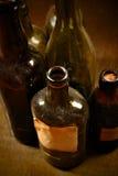 μπουκάλια παλαιά Στοκ Φωτογραφίες