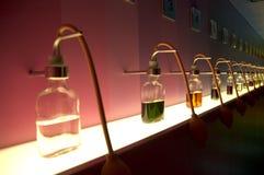 μπουκάλια που χρωματίζονται Στοκ Εικόνα