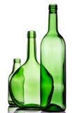 μπουκάλια πράσινα τρία Στοκ Εικόνα