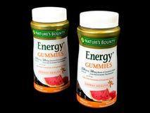 2 μπουκάλια της ενέργειας Gummies γενναιοδωρίας φύσης ` s στοκ φωτογραφία με δικαίωμα ελεύθερης χρήσης
