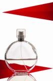 μπουκάλι ανασκόπησης που απομονώνεται πέρα από το λευκό αρώματος Στοκ Εικόνα