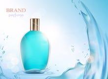 Μπουκάλι γυαλιού με ένα άρωμα Στοκ εικόνα με δικαίωμα ελεύθερης χρήσης