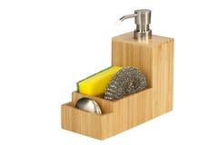 Μπουκάλι και σφουγγάρι σαπουνιών πιάτων Στοκ εικόνα με δικαίωμα ελεύθερης χρήσης