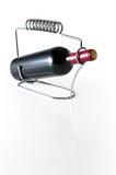 Μπουκάλι με το κόκκινο κρασί στοκ εικόνα