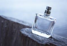 Μπουκάλι με το plumeria στη θάλασσα Στοκ Φωτογραφίες