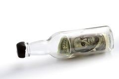 μπουκάλι τραπεζογραμμα&t Στοκ Εικόνα