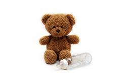 μπουκάλι των άρκτων teddy Στοκ Εικόνες