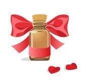 Μπουκάλι των καρδιών χαπιών Στοκ φωτογραφία με δικαίωμα ελεύθερης χρήσης
