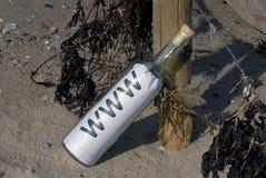 μπουκάλι www Στοκ Εικόνες