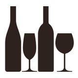 Μπουκάλια και γυαλιά διανυσματική απεικόνιση