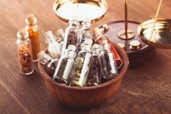 Μπουκάλια καρυκευμάτων Στοκ Εικόνα