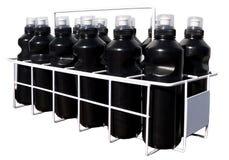 Μπουκάλια ποτών στο κλουβί ποτών στοκ εικόνα με δικαίωμα ελεύθερης χρήσης