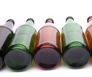 Μπουκάλια που βρίσκονται στη σειρά Στοκ φωτογραφία με δικαίωμα ελεύθερης χρήσης
