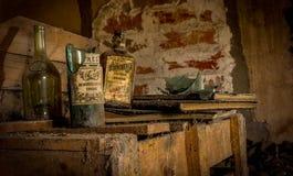 μπουκάλια που σπάζουν Στοκ φωτογραφία με δικαίωμα ελεύθερης χρήσης