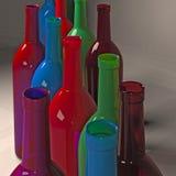 μπουκάλια που χρωματίζονται ελεύθερη απεικόνιση δικαιώματος