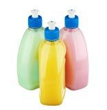 Μπουκάλια πλυσίματος των πιάτων Στοκ Εικόνα