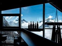 Μπουκάλια στο πίσω φως Στοκ Εικόνες
