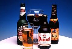 Μπουκάλια της βελγικής μπύρας Στοκ φωτογραφίες με δικαίωμα ελεύθερης χρήσης