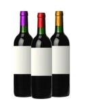 Μπουκάλια του κόκκινου κρασιού που απομονώνεται στο λευκό Στοκ φωτογραφία με δικαίωμα ελεύθερης χρήσης