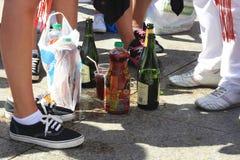 Μπουκάλια SAN Fermin Στοκ φωτογραφία με δικαίωμα ελεύθερης χρήσης