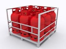Μπουκάλι αερίου Στοκ φωτογραφίες με δικαίωμα ελεύθερης χρήσης