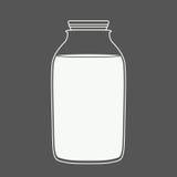 Μπουκάλι γάλακτος ή χυμού Στοκ Φωτογραφία