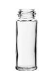 Μπουκάλι γυαλιού καρυκευμάτων καμία ΚΑΠ που απομονώνεται στο άσπρο υπόβαθρο στοκ φωτογραφίες με δικαίωμα ελεύθερης χρήσης