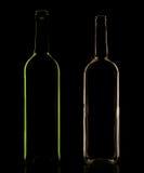 Μπουκάλι γυαλιού στο συγκρατημένο φωτισμό Στοκ εικόνα με δικαίωμα ελεύθερης χρήσης