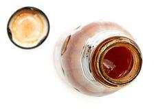 Μπουκάλι γυαλιού της καυτής σάλτσας Στοκ Φωτογραφία