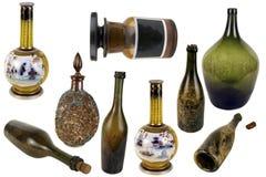 Μπουκάλι γυαλιού Antiquarian Στοκ Εικόνα