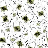 Μπουκάλι και γυαλί ουίσκυ άνευ ραφής Στοκ Φωτογραφία