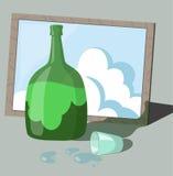 Μπουκάλι και όνειρο ελεύθερη απεικόνιση δικαιώματος